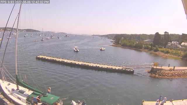 Webcam view of Mahone Bay Civic Marina mooring field